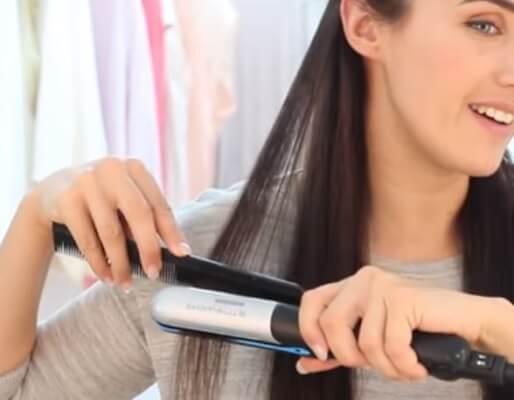 Planchado para el cabello seco y maltratado