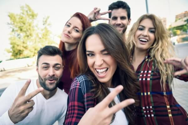 grupo de amigos que te harán sentir mejor