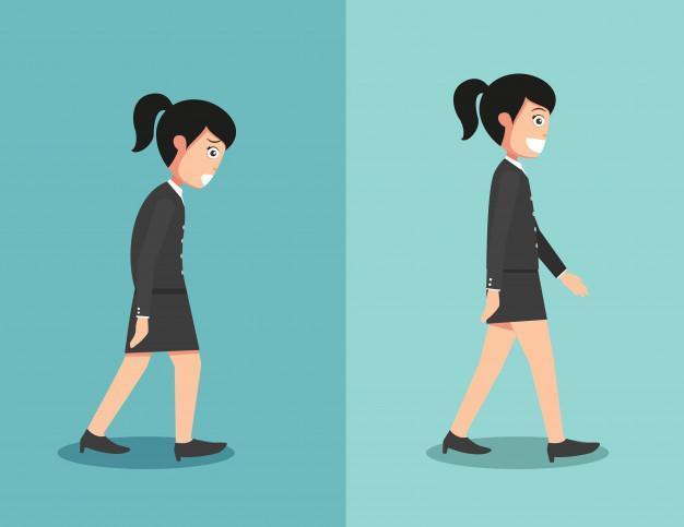 postura para andar correctamente