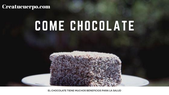 come chocolate de vez en cuando