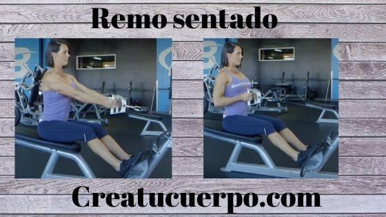 Mejores ejercicios Fitness, remo sentado