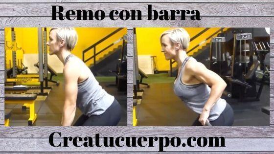 Mejores ejercicios Fitness, remo con barra
