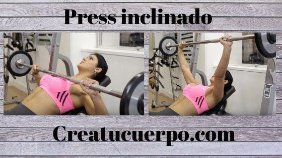 Press inclinado, ejercicios Fitness para pecho