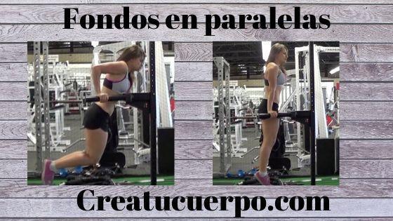Fondos en paralelas para pecho, ejercicios Fitness
