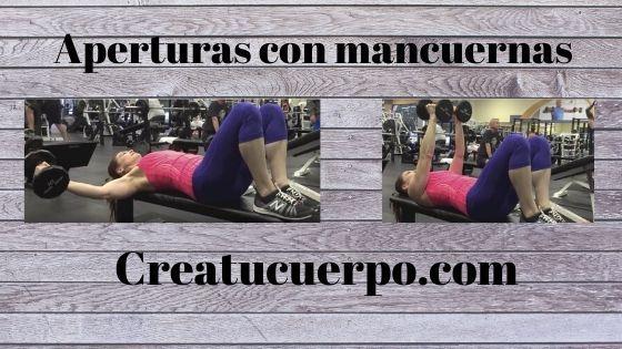 Aperturas con mancuernas, ejercicios Fitness