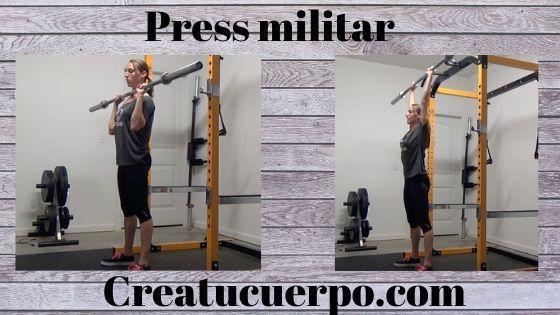 Ejercicios Fitness, press militar