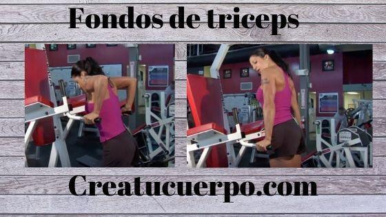 Fondos de tríceps, ejercicios Fitness