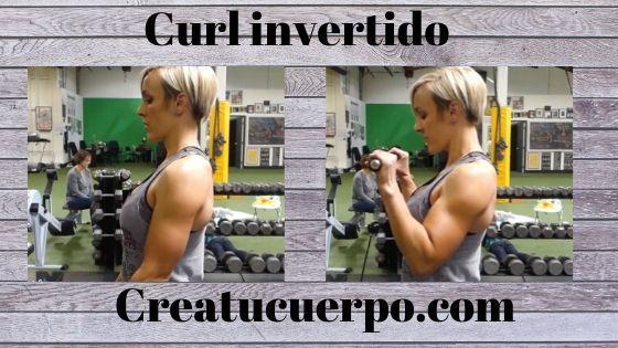 Curl invertido, ejercicios Fitness