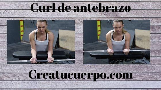 Ejercicios Fitness, curl de antebrazo
