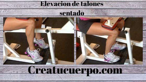 Elevación de talones sentado, ejercicios Fitness