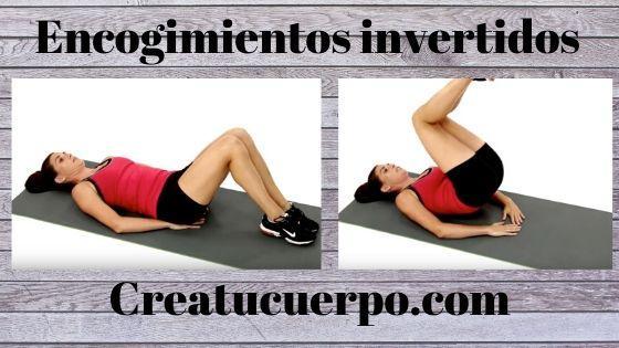 Encogimientos invertidos, ejercicios Fitness