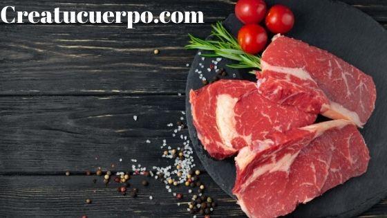 La carne roja tiene muchas propiedades para la piel