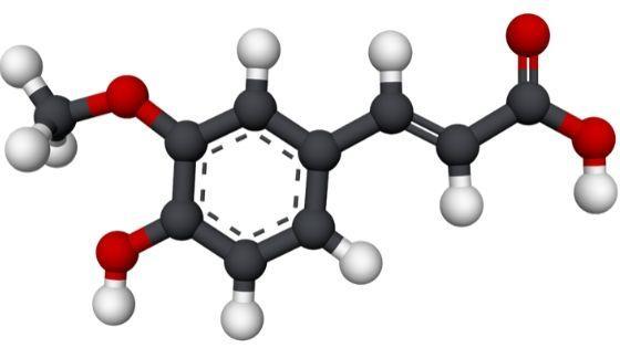 estructura del ácido ferúlico