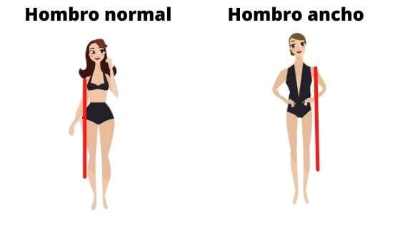 Infografía para saber si tienes los hombros anchos o no