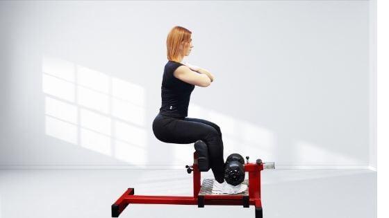 Banco para hacer la Sissy squat