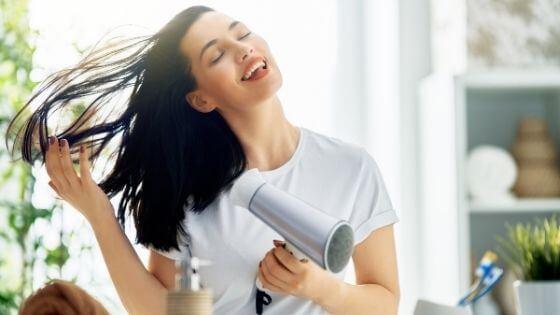 Secate el cabello correctamente