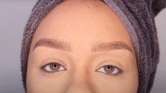 Resultado de unas cejas bien maquilladas