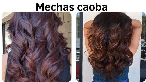 mechas color caoba