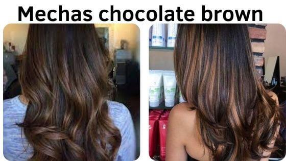 mechas chocolate