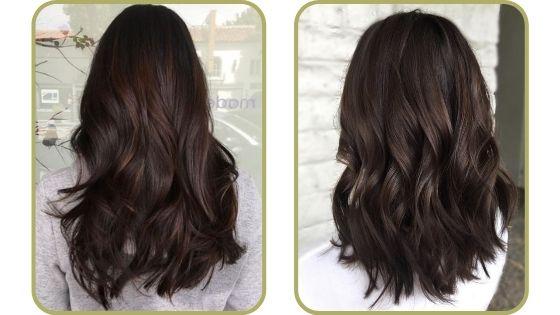 cabello marrón chocolate
