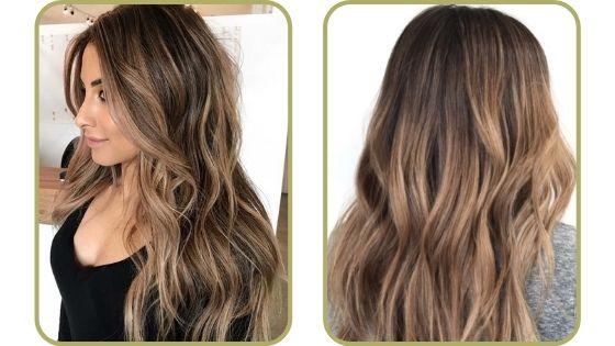 pelo castaño con mechas bronce