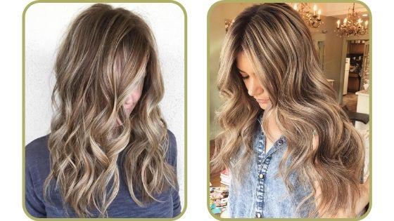 pelo castaño con mechas claras