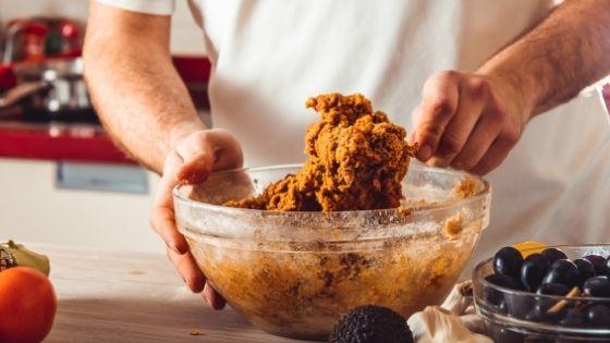 Preparación de carne vegana